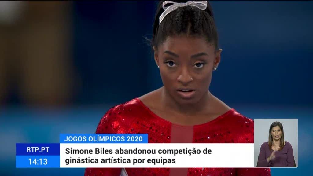 Tóquio2020. Simone Biles abandonou competição de ginástica artística