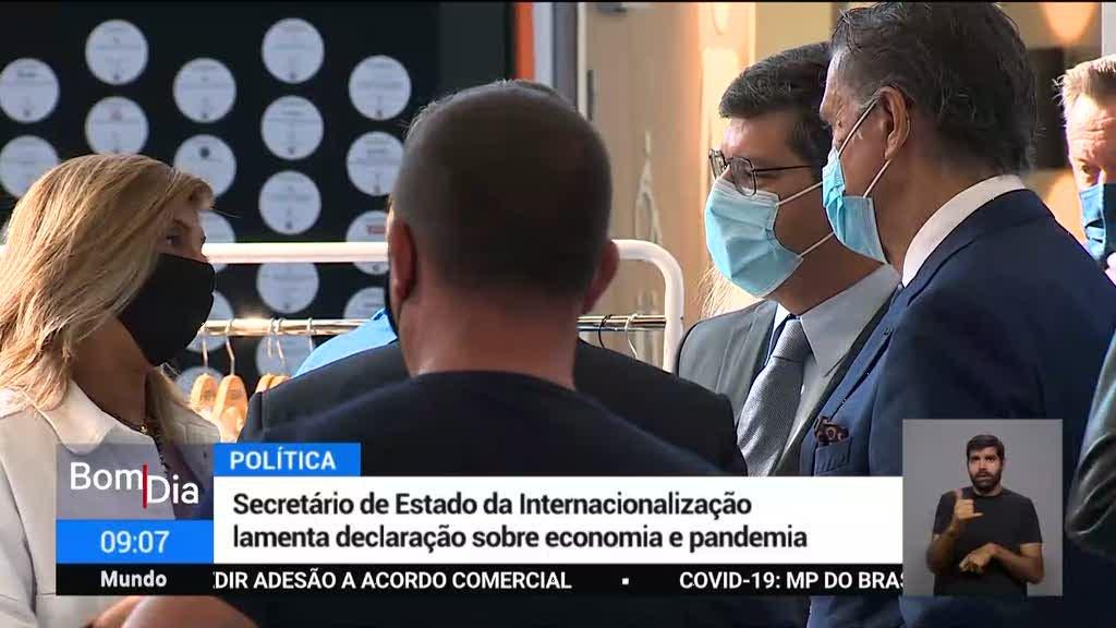 Eurico Brilhante Dias lamenta declaração sobre economia e pandemia