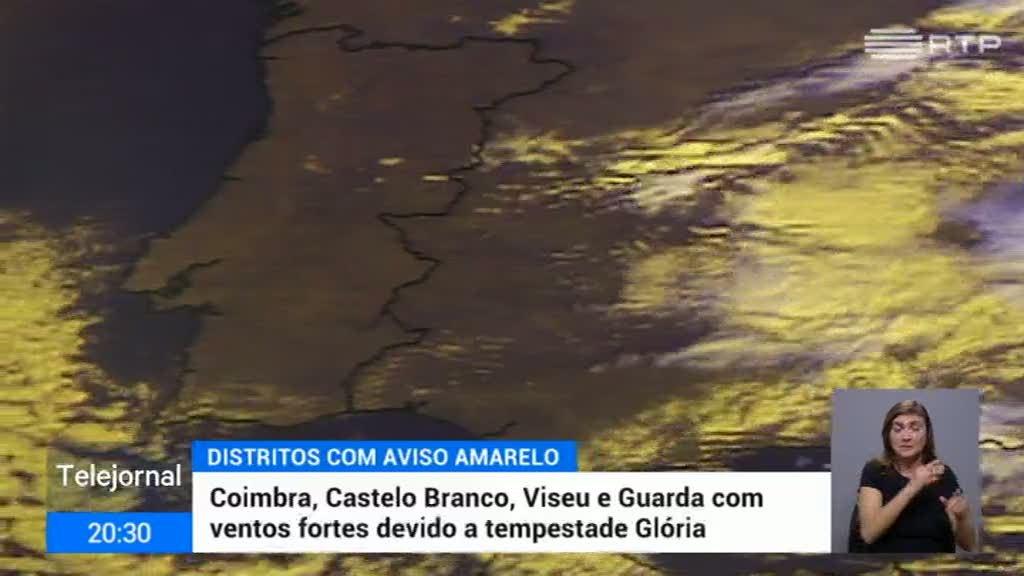 Tempestade Glória coloca Portugal em alerta