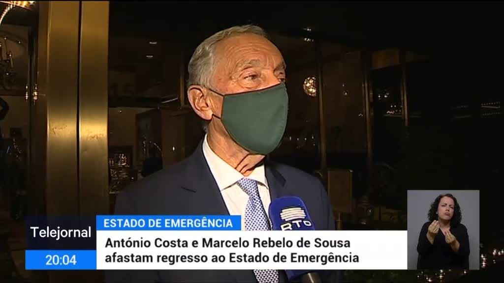 Marcelo recusa pronunciar-se sobre confinamento de fim-de-semana