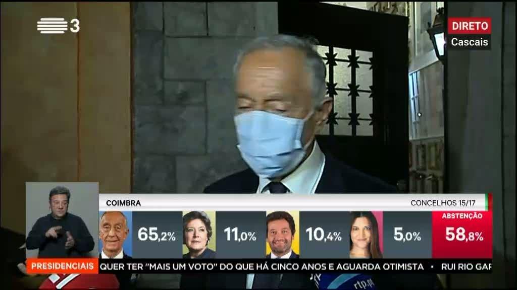 Marcelo Rebelo de Sousa quer esperar pelo apurar definitivo dos resultados