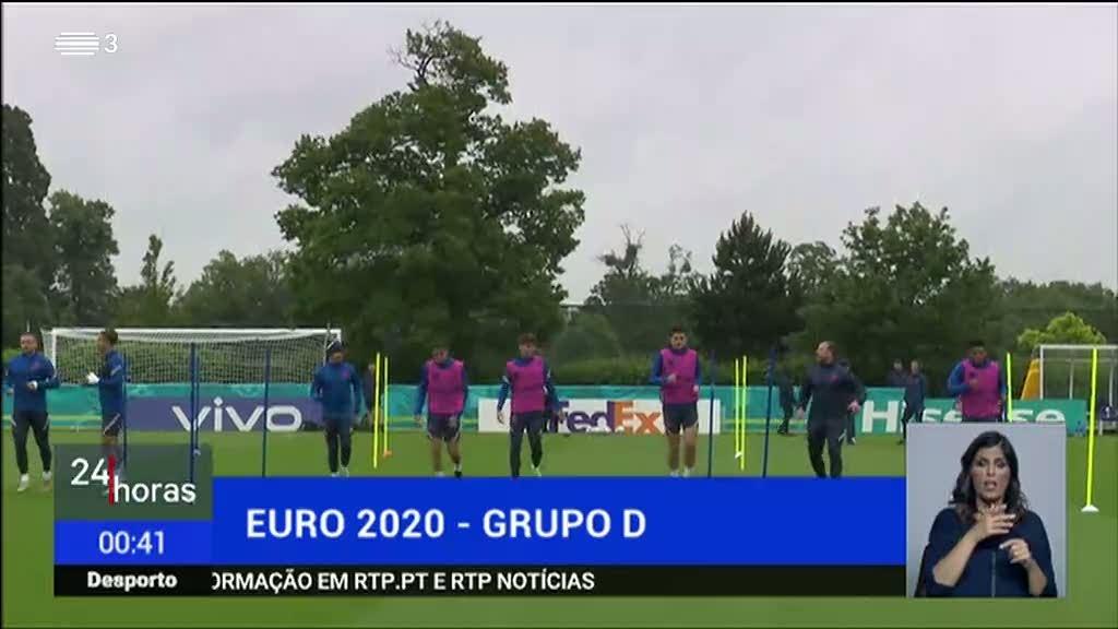 Grupo D. Inglaterra-Rep. Checa e Croácia-Escócia são os jogos decisivos