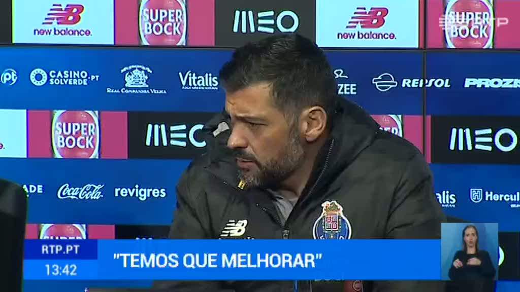 Sérgio Conceição reconhece que falta consistência ao plantel