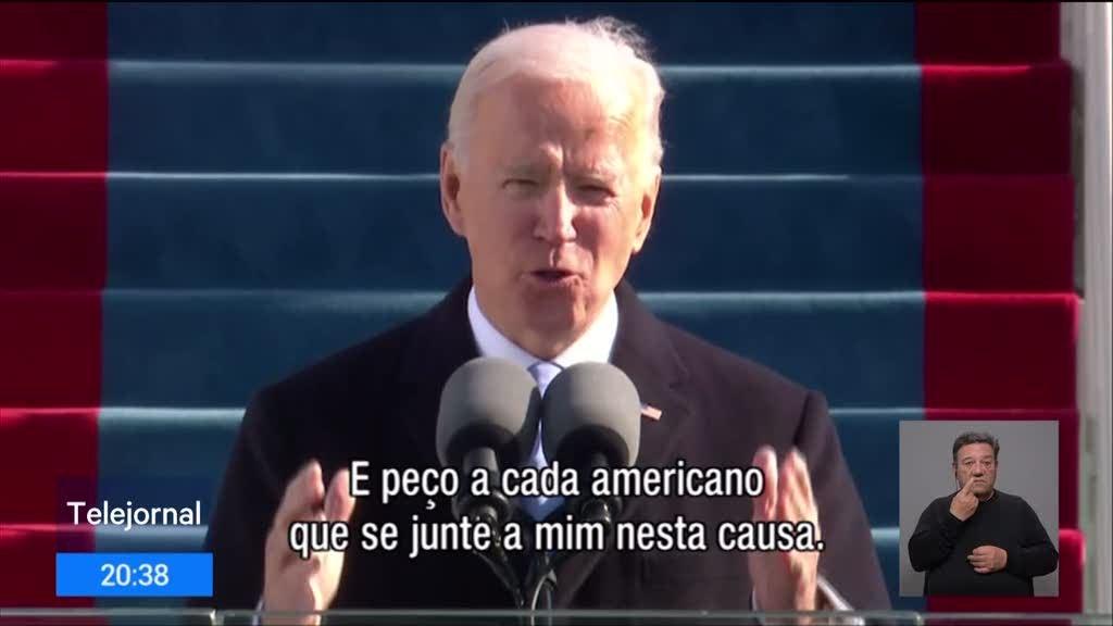 Discurso posse. Joe Biden apela à união de todos os americanos