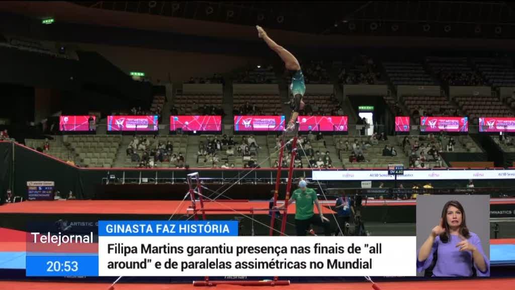 """Mundiais de ginástica artística. Filipa Martins está nas finais de """"all around"""" e de paralelas assimétricas"""