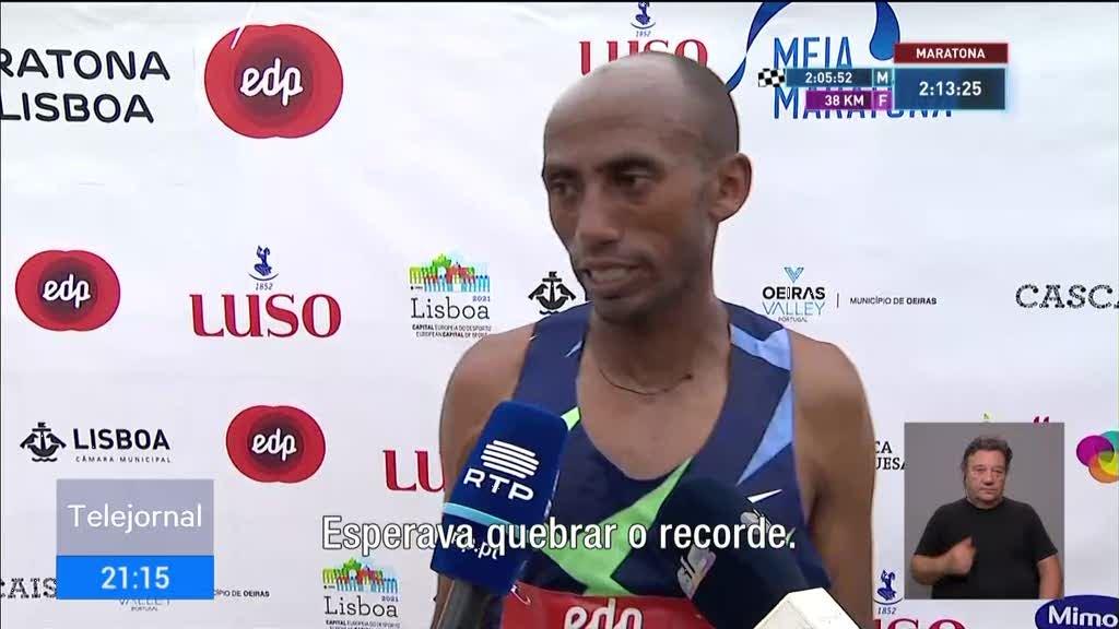 Maratona de Lisboa. Andualem Shiferaw estabeleceu um novo recorde da prova