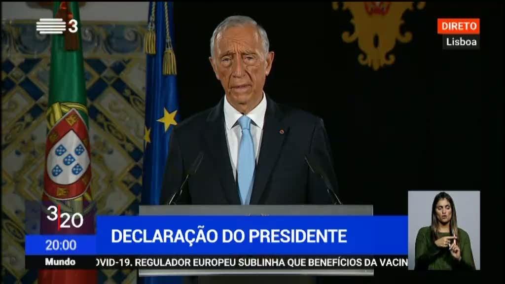 """Marcelo Rebelo de Sousa pede """"mais um esforço"""" aos portugueses"""