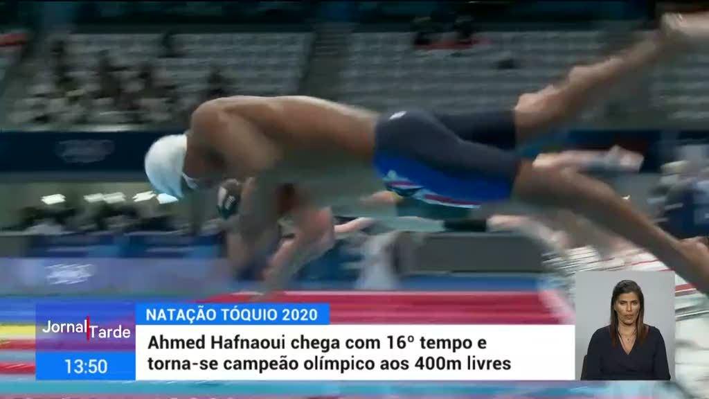 Nadador tunisino Ahmed Hafnaoui arrebata o ouro em Tóquio