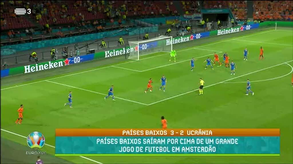 Euro2020. Países Baixos vencem Ucrânia por 3-2