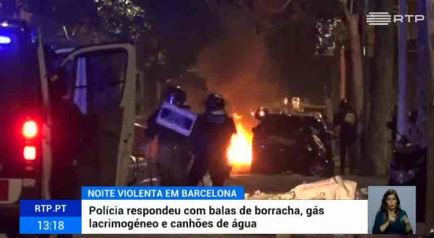 Barcelona. Centena e meia de feridos em noite de violência