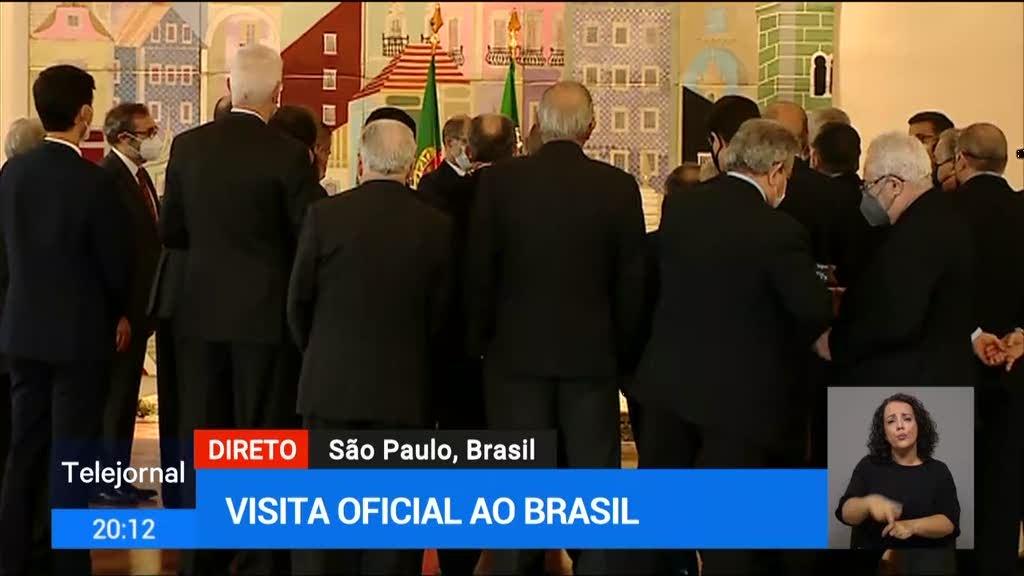 Marcelo reuniu com emigrantes portugueses no Brasil