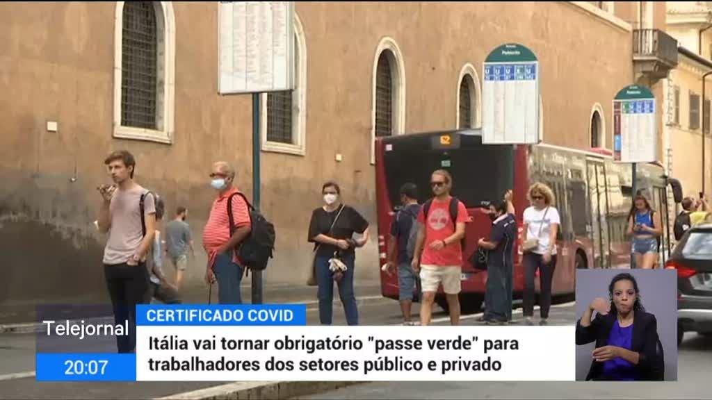 Itália torna passe sanitário obrigatório para todos os trabalhadores