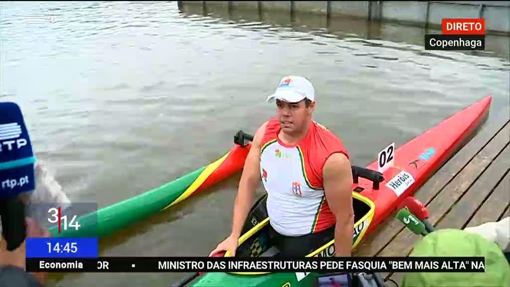 Norberto Mourão medalha de bronze em 200m VL2 no Mundiais de Copenhaga