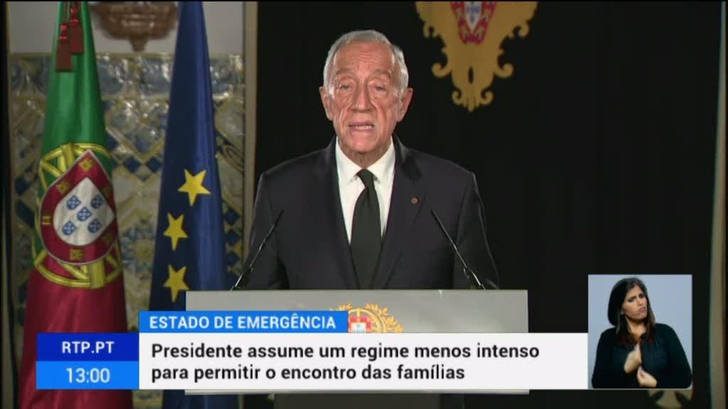 Marcelo avisa que exceção das restrições no Natal não pode originar descontrolo