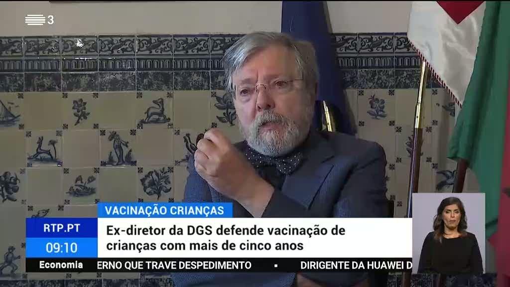 Francisco George defende vacinação de crianças com mais de cinco anos