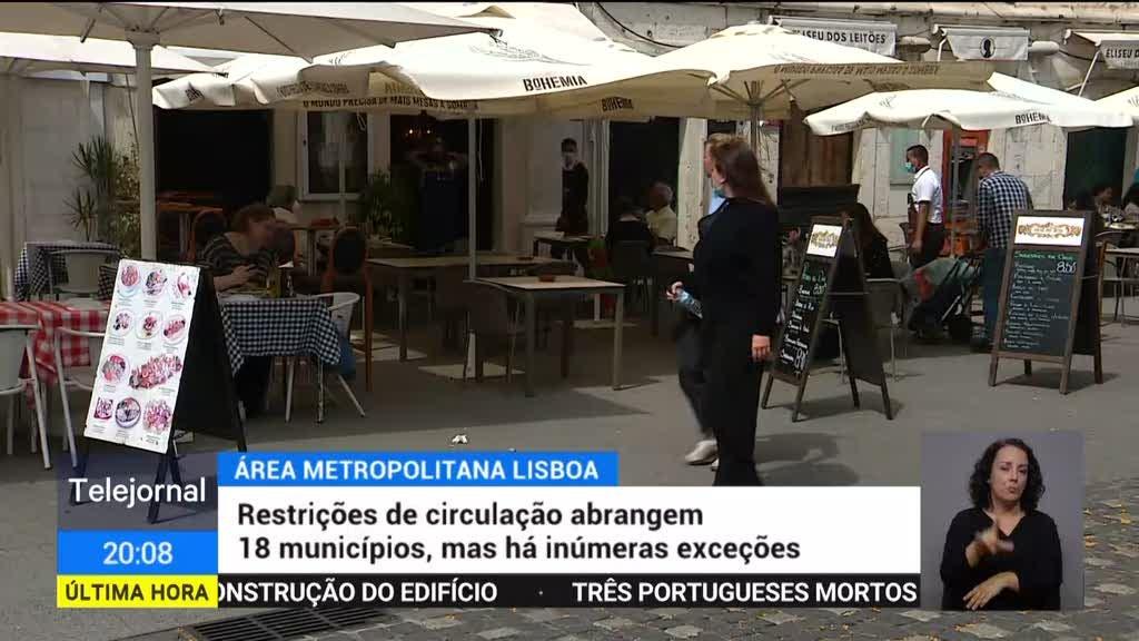 Autoridades fiscalizam cumprimento das restrições na grande Lisboa