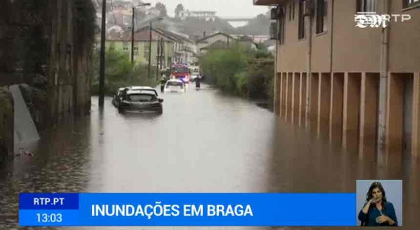 Chuva intensa provoca inundações a Norte