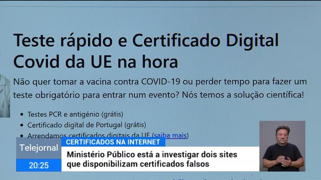MP investiga sites de certificados de vacinação e de testes falsos