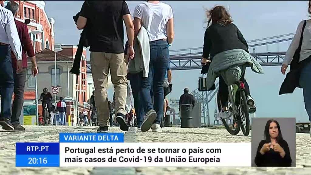 Variante Delta potenciou casos de covid em Portugal