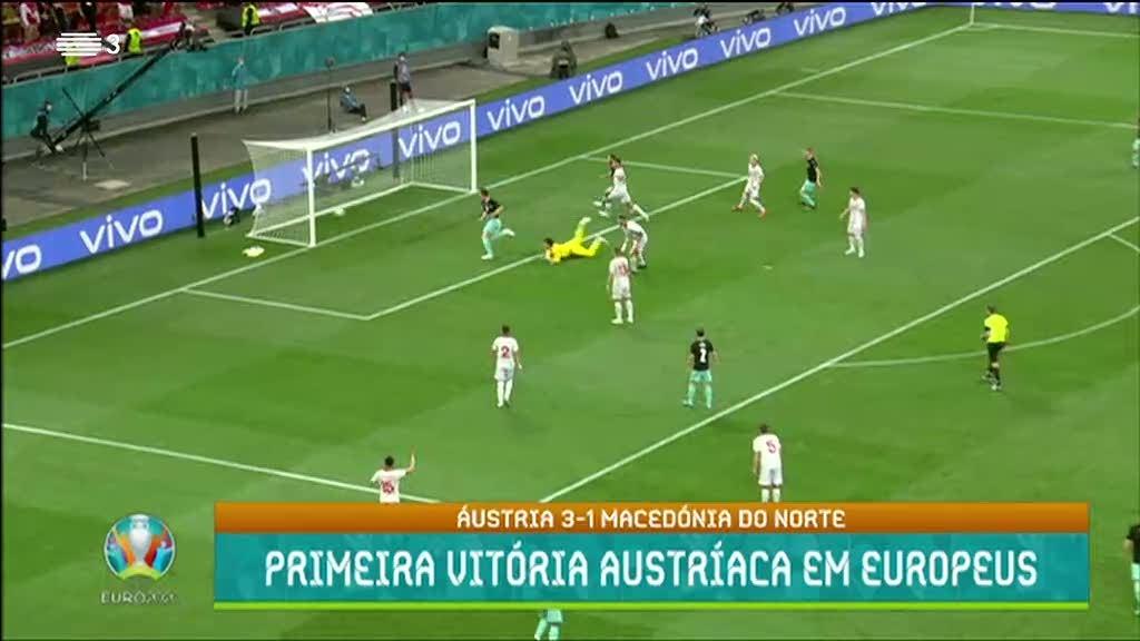 Euro2020. Áustria vence Macedónia por 3-1