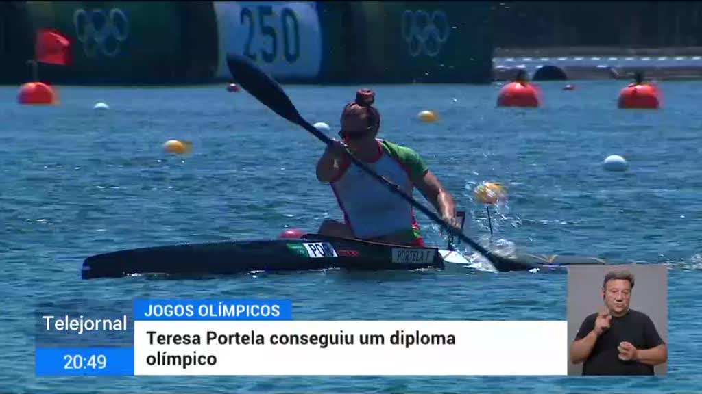 Teresa Portela sai de Tóquio com um diploma olímpico na canoagem
