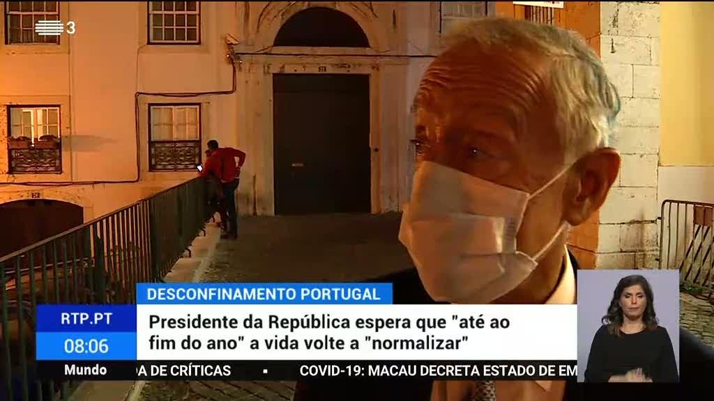 """Presidente da República espera que """"até ao fim do ano"""" a vida volte a """"normalizar"""""""