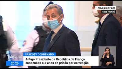 Sarkozy condenado em pena de prisão por corrupção e tráfico de influências