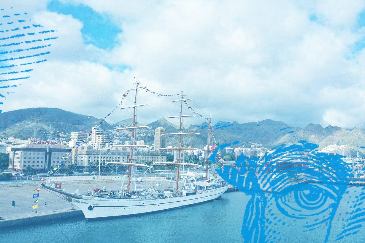 Escala do navio-escola Sagres em Tenerife