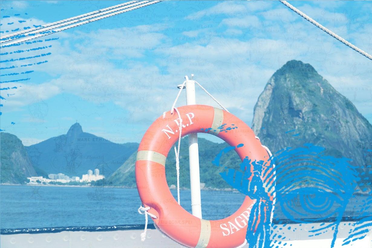 Navio-escola Sagres esteve na baía de Guanabara
