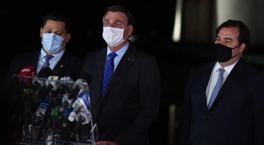 Bolsonaro manifestou a esperança numa reação positiva da economia à crise sanitária