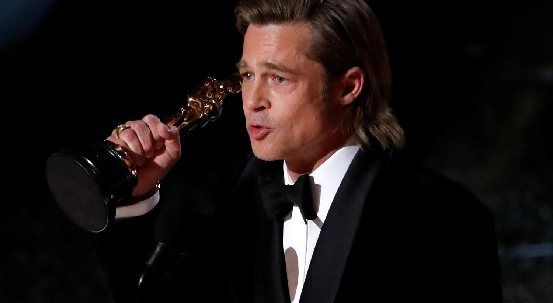 """O prémio de Melhor Ator Secundário atribuído a Brad Pitt no filme """"Once Upon a Time in Hollywood"""" / Mario Anzuoni - Reuters"""