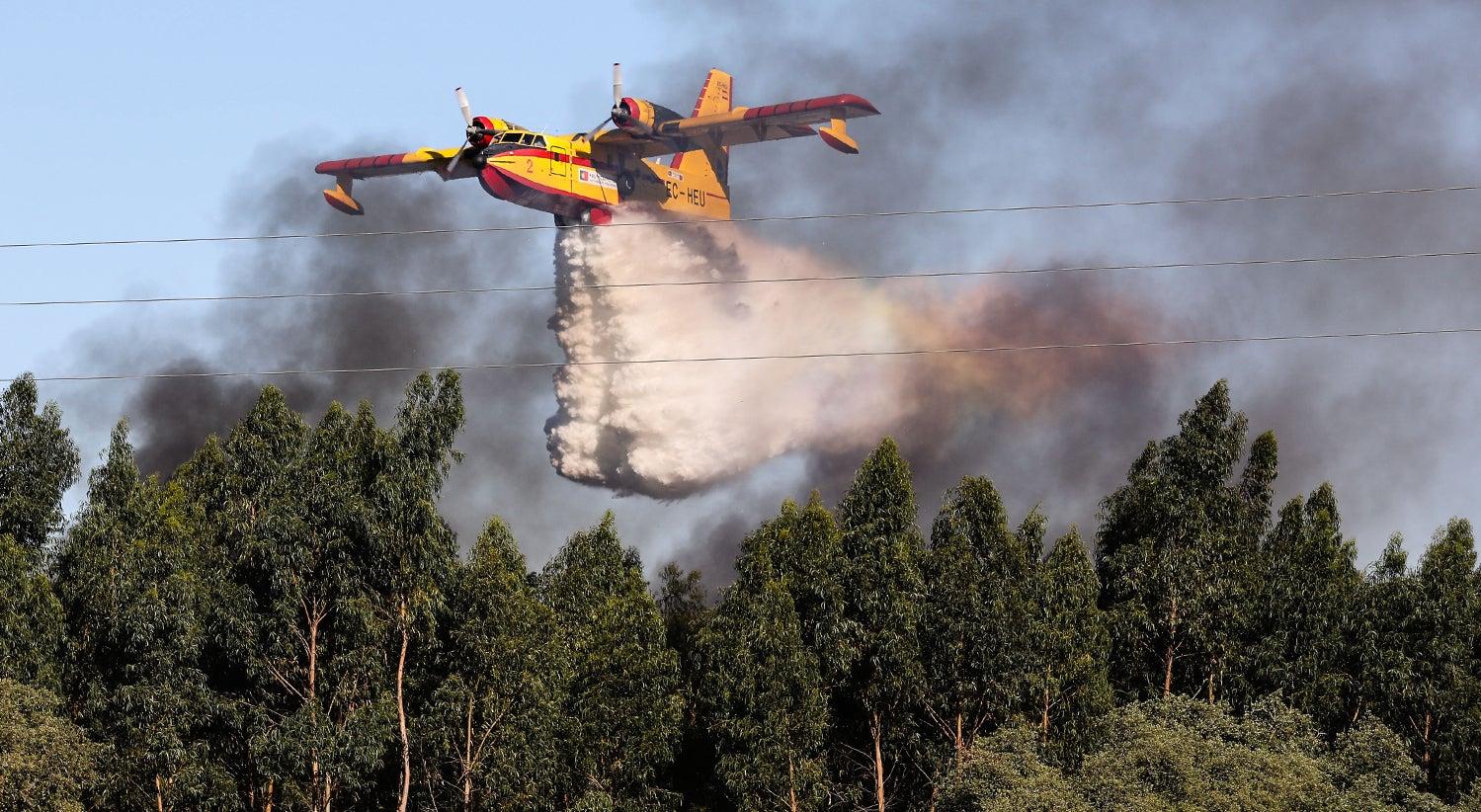 Sapadores florestais feridos em incêndio no distrito de Santarém