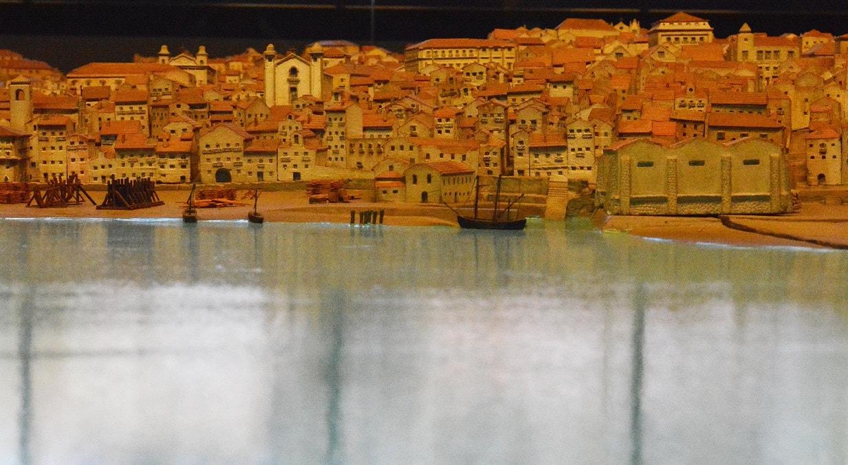 Maqueta de Lisboa anterior ao Terramoto de 1755. Constituída por 10 mil miniaturas de edifícios.