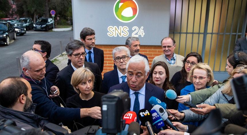"""António Costa garantiu """"tratamento igual"""" para trabalhadores do público e do privado que possam vir a ficar em quarentena."""