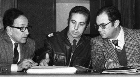 Reunião da coordenadora do MFA, com Vasco Gonçalves, Franco Charais e Melo Antunes