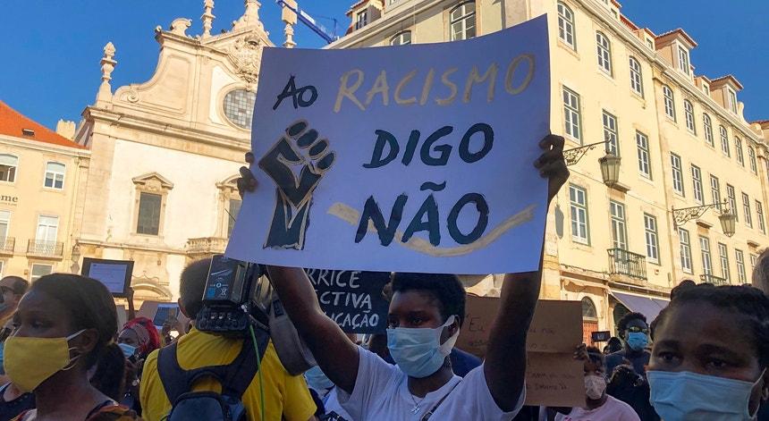 Manifestação em Lisboa aquando da morte do ator Bruno Candé