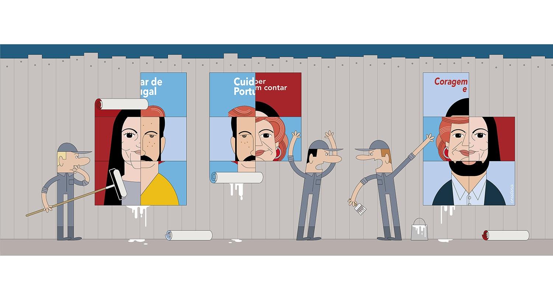 """Baralhados"" da ilustradora Cristina Sampaio"