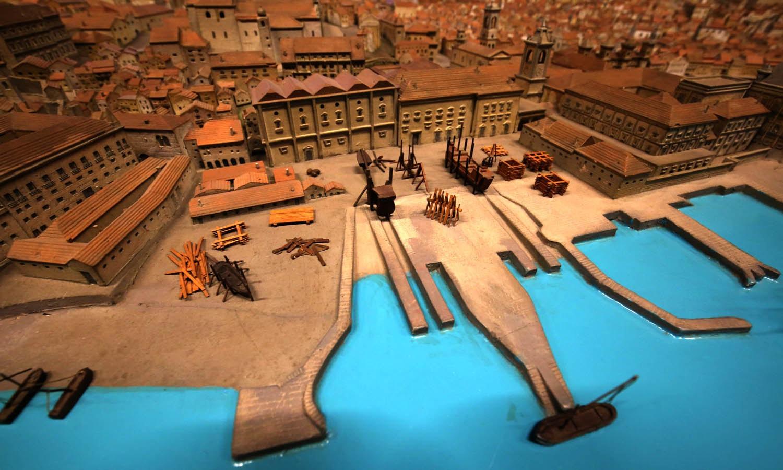 Maqueta de Lisboa anterior ao Terramoto de 1755