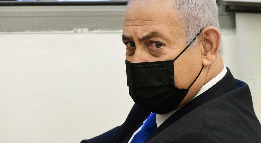 Benjamim Netanyahu em fevereiro de 2021