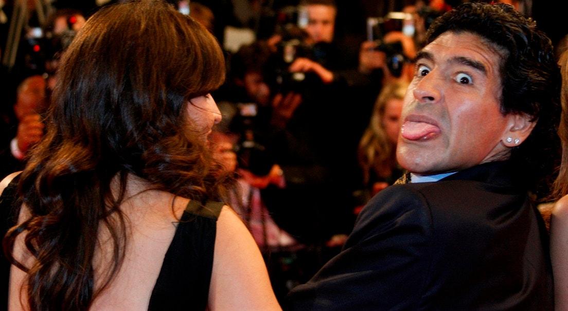 """2008. Passadeira vermelha para assistir ao filme de Kusturica """" Maradona by Kusturica""""   Vincent Kessler - Reuters"""