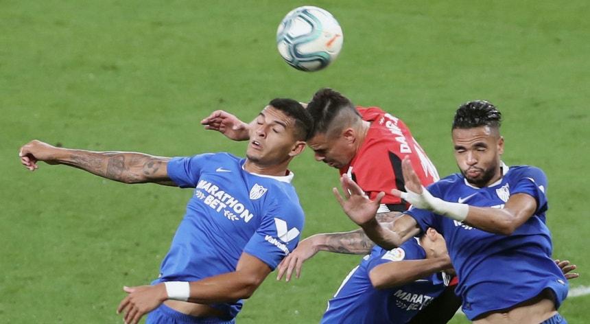 Num jogo muito disputado o Sevilha levou a melhor sobre o Athletic Bilbau
