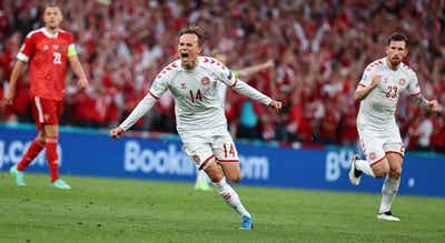 Euro2020. Dinamarca goleia Rússia. Veja o resumo da partida