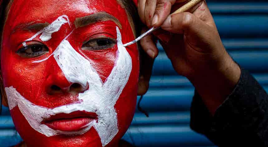 Iconografia de luta no Nepal