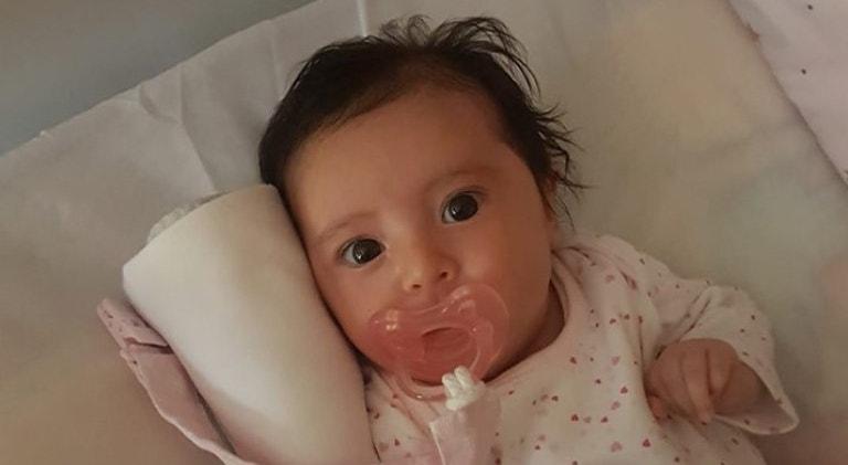 O medicamento pode ser a cura da pequena Matilde Sande, de apenas dois meses, que sofre da forma mais grave da doença, o tipo 1