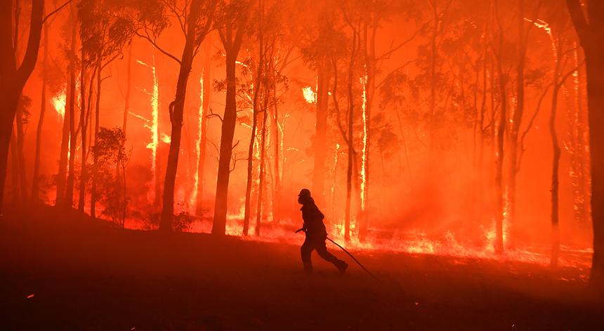 Imagem do dia. Inferno na Austrália