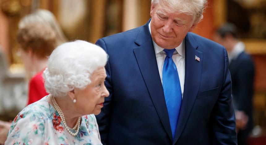 A Rainha Isabel II e o Presidente dos EUA, Donald Trump
