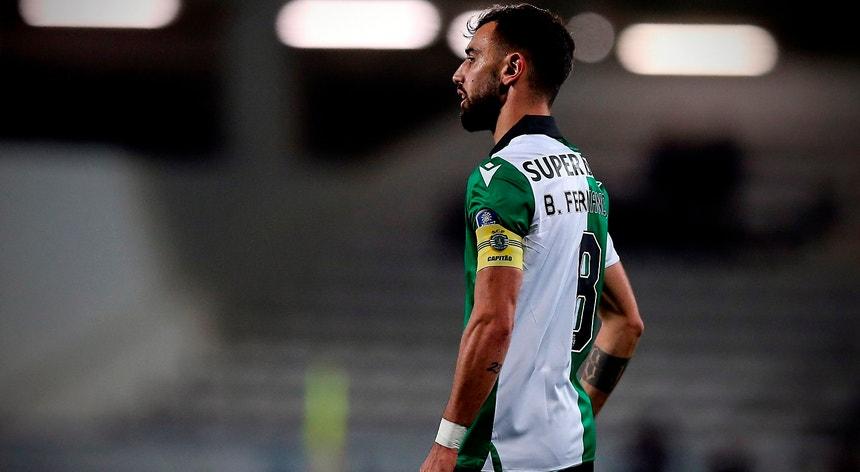 Bruno Fernandes marcou o primeiro golo da partida