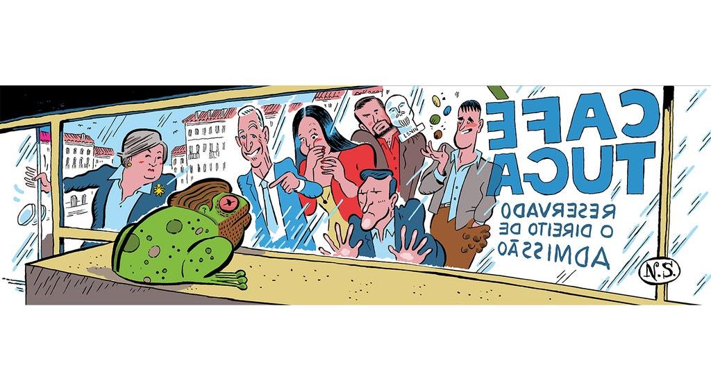 """O CAFÉ TUGA"" do ilustrador Nuno Saraiva"