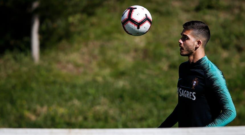André Silva foi um dos jogadores que cumpriu o treino do dia