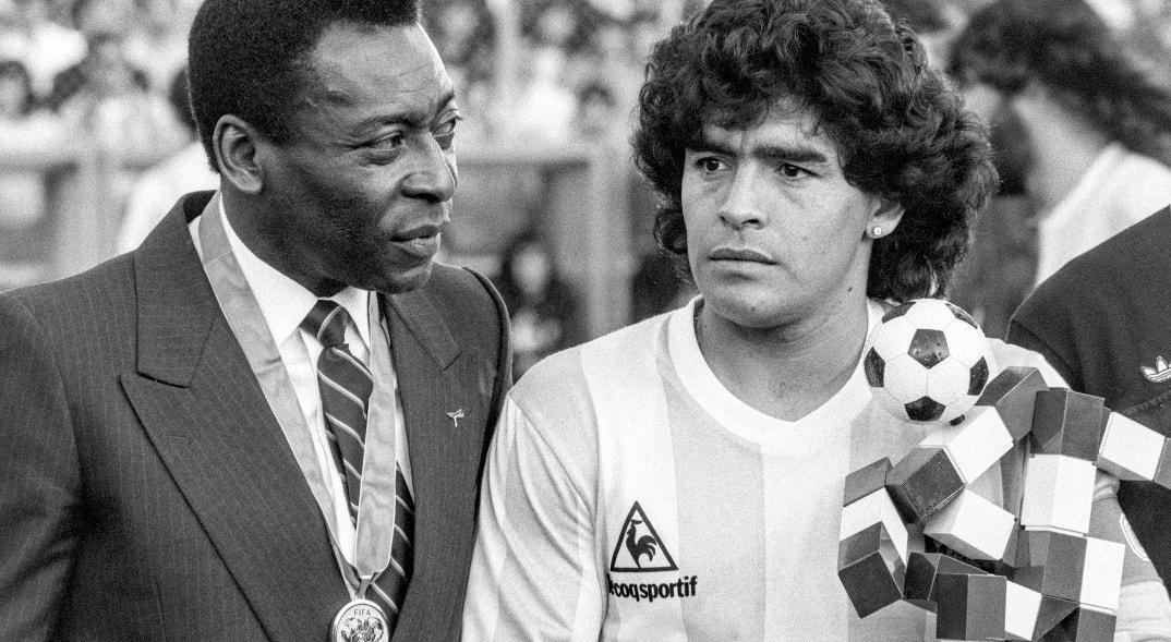 1987. Zurique. Maradona com Pelé   Keystone - EPA
